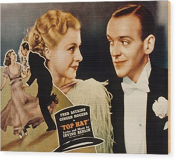 Top Hat, Lobbycard, Ginger Rogers, Fred Wood Print by Everett
