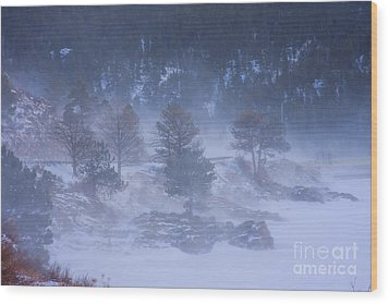 Top Of Boulder Canyon Winter Snow Wood Print by James BO  Insogna