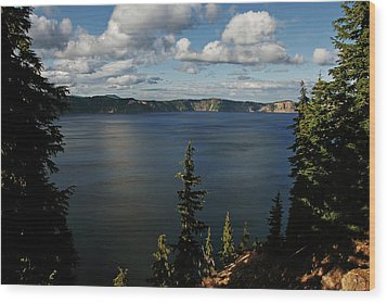 Top Wow Spot - Crater Lake In Crater Lake National Park Oregon Wood Print by Christine Till