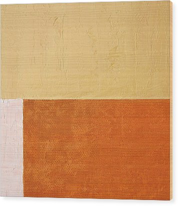 Topaz Pink Orange Wood Print by Michelle Calkins