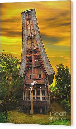 Toraja Architecture Wood Print by Charuhas Images