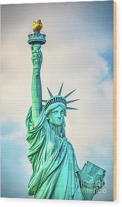 Wood Print featuring the photograph Torch Of Liberty by Nick Zelinsky