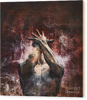 Torment Wood Print by Andrew Paranavitana