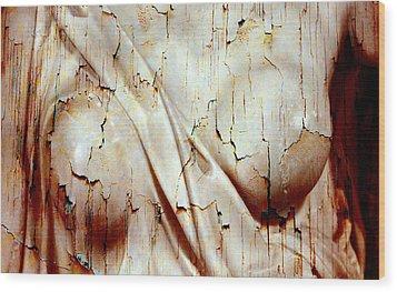 Torn Body Wood Print by Munir Alawi