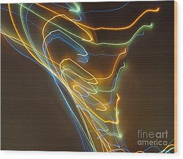 Wood Print featuring the photograph Tornado Of Lights. Dancing Lights Series by Ausra Huntington nee Paulauskaite