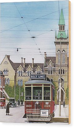 Wood Print featuring the painting Toronto Belt Line by Kenneth M Kirsch