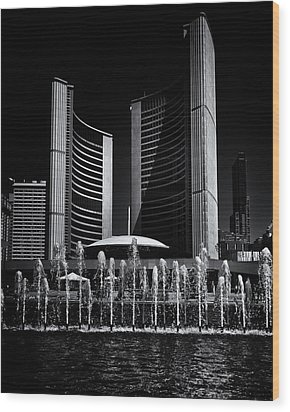 Wood Print featuring the photograph Toronto City Hall No 25 by Brian Carson