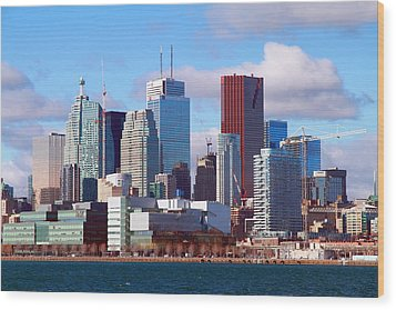 Wood Print featuring the photograph Toronto Core by Valentino Visentini
