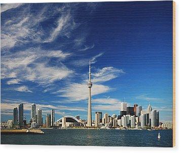 Toronto Skyline Wood Print by Andriy Zolotoiy