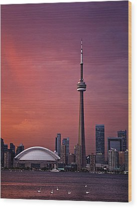 Toronto Sunset Wood Print