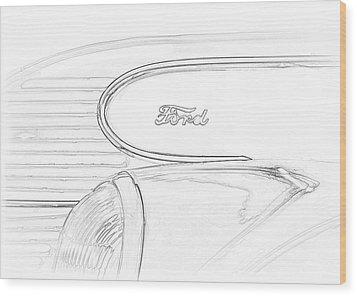 Torpedo Ford Wood Print