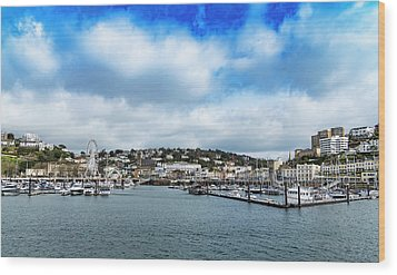 Wood Print featuring the photograph Torquay Devon by Scott Carruthers