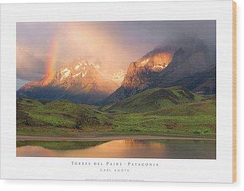 Torres Del Paine - Patagonia Wood Print by Carl Amoth