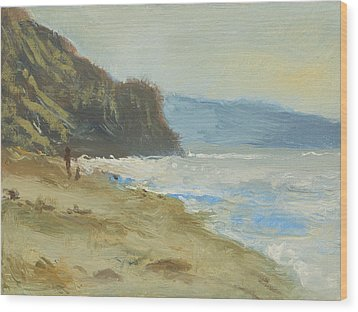 Torrey Pines Beach Wood Print by Robert Bissett