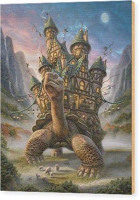 Tortoise House Wood Print