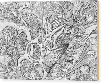 Tortuosity Wood Print