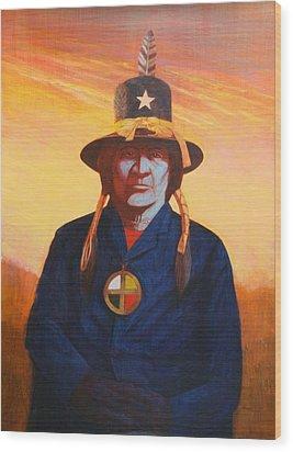 Tosh-a-wah,peneteka Comanche Chief Wood Print by J W Kelly