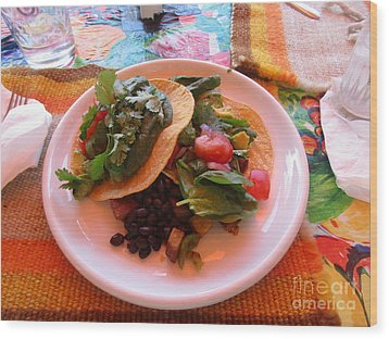 Wood Print featuring the photograph Tostada Times Two by Marie Neder