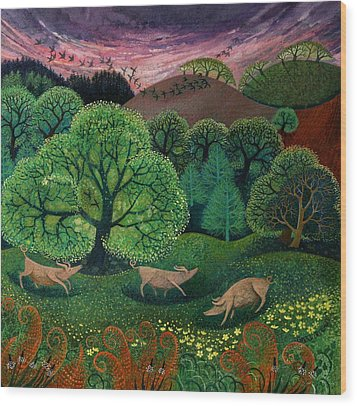 Totally Organic  Wood Print by Lisa Graa Jensen