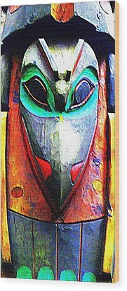 Totem 7 Wood Print by Randall Weidner