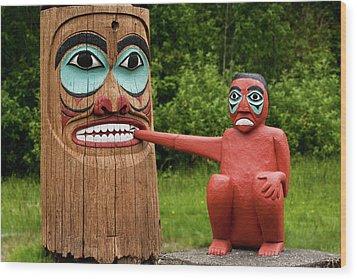 Totem Bite Wood Print
