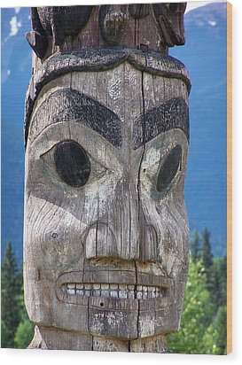 Totem Wood Print by Marty Koch