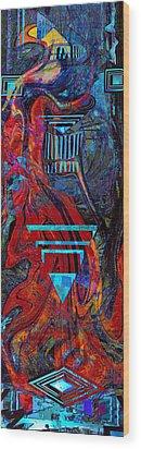 Totem Pole Wood Print by Anne Weirich