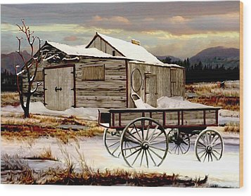 Touch Of Spring Wood Print by Ron and Ronda Chambers