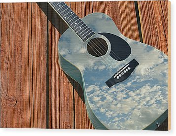 Wood Print featuring the photograph Touch The Sky by Laura Fasulo