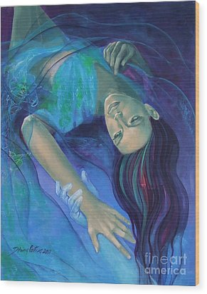 Touching The Ephemeral Wood Print by Dorina  Costras