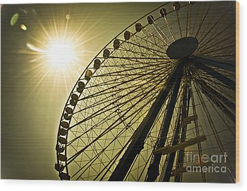 Touching The Sun Wood Print by Alessandro Giorgi Art Photography