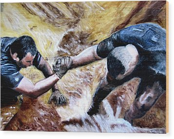 Tough Mudder Wounded Warrior Contest Wood Print by Maris Sherwood