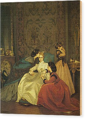 Toulmouche Auguste The Reluctant Bride Wood Print by Auguste Toulmouche