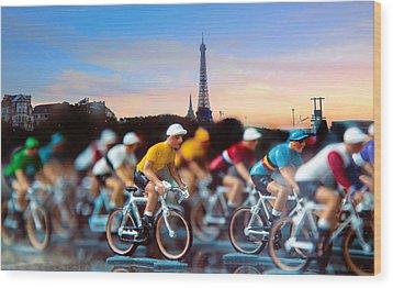 Tour De France Wood Print by John Rivera