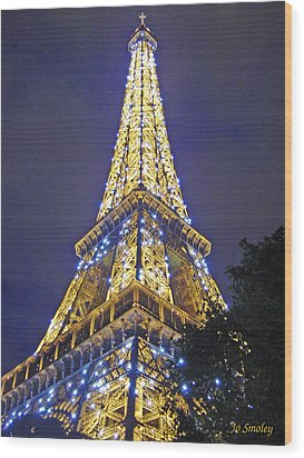 Tour Eiffel 2007 Wood Print by Joanne Smoley