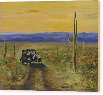 Wood Print featuring the painting Touring Arizona by Jack Skinner