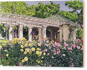 Tournament Of Roses Wood Print by David Lloyd Glover