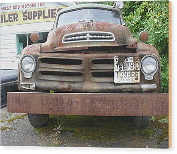 Wood Print featuring the photograph Tow Truck - Forks Washington by Joel Deutsch