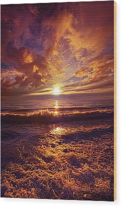 Wood Print featuring the photograph Toward The Far Reaches by Phil Koch