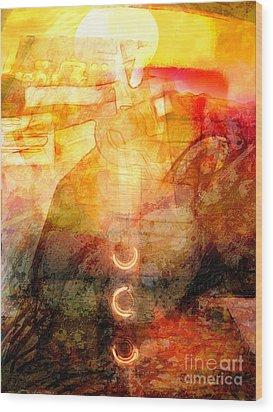 Towards The Light Wood Print by Lutz Baar
