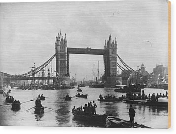 Tower Bridge Wood Print by Francis Frith & Co