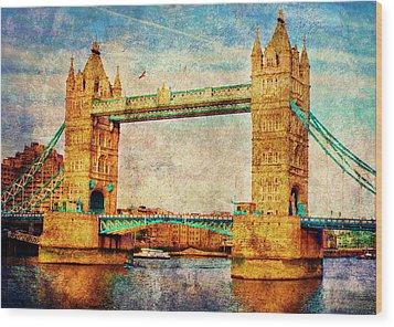 Tower Bridge London Wood Print by Judi Saunders
