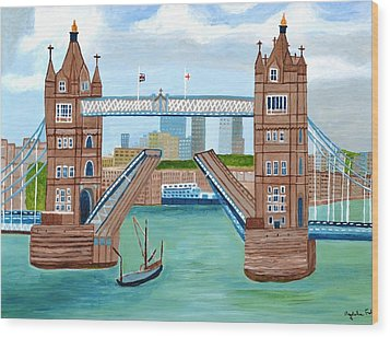 Tower Bridge London Wood Print by Magdalena Frohnsdorff