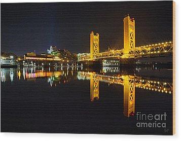 Tower Bridge Sacramento Wood Print