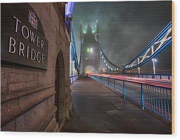 Tower Bridge Wood Print by Thomas Zimmerman