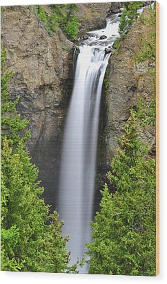 Tower Fall Wood Print by Greg Norrell