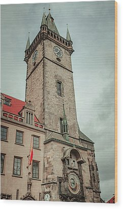 Wood Print featuring the photograph Tower Of Old Town Hall In Prague by Jenny Rainbow