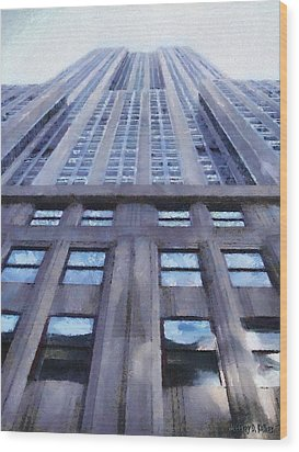 Tower Of Steel And Stone Wood Print by Jeff Kolker