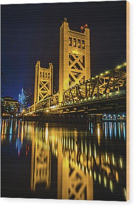 Tower Reflections Wood Print