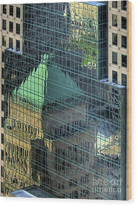Tower Reflections Wood Print by Mel Steinhauer